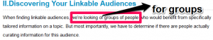 Define your audience group
